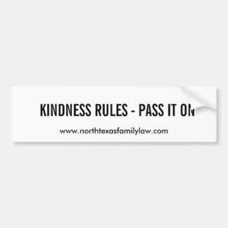 Güte-Regeln - geben Sie es weiter Autoaufkleber