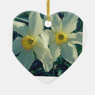 gute Sachen kommen in Paare Keramik Herz-Ornament
