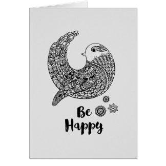 Gute Schwingungen - seien Sie glücklich Karte