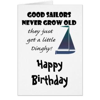 Gute Seeleute wachsen nie, Spaß-Sprichwort alt Grußkarte