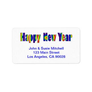 Guten Rutsch ins Neue Jahr Adress Aufkleber