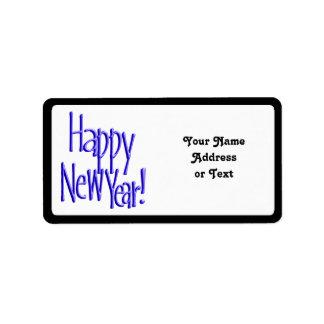 Guten Rutsch ins Neue Jahr - BlueText (addieren Adressetiketten