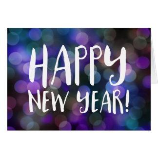 guten Rutsch ins Neue Jahr bokeh Grußkarte