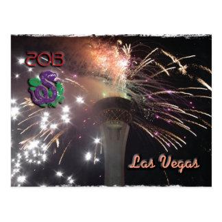 Guten Rutsch ins Neue Jahr der Schlange im Jahre Postkarte