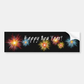 Guten Rutsch ins Neue Jahr-Feuerwerk Autoaufkleber