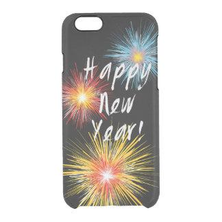 Guten Rutsch ins Neue Jahr-Feuerwerk Durchsichtige iPhone 6/6S Hülle