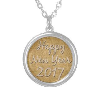 Guten Rutsch ins Neue Jahr-Halskette 2017 Versilberte Kette