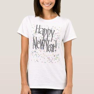 Guten Rutsch ins Neue Jahr-silberner Text T-Shirt
