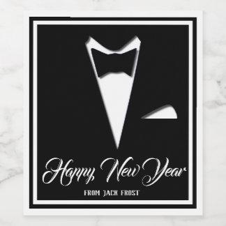 Guten Rutsch ins Neue Jahr-Smoking Weinetikett