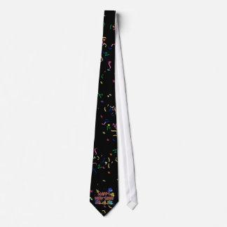 Guten Rutsch ins Neue Jahr Textw/Party Hut-u. Personalisierte Krawatte