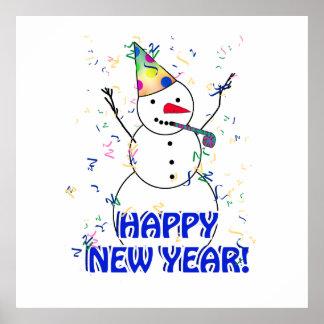 Guten Rutsch ins Neue Jahr vom feiernden Poster