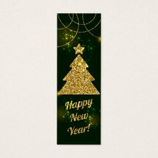 Guten Rutsch ins Neue Jahr-Weihnachtsgrün-Feiertag Mini Visitenkarte