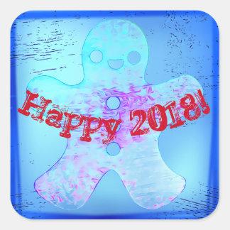 Guten Rutsch ins Neue Jahraufkleber mit Quadratischer Aufkleber