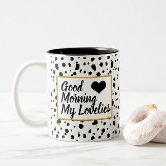 Gutenmorgen Lovelies modische dalmatinische Zweifarbige Tasse