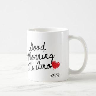 Gutenmorgen MI Amor! Mit rotem Herzen Kaffeetasse