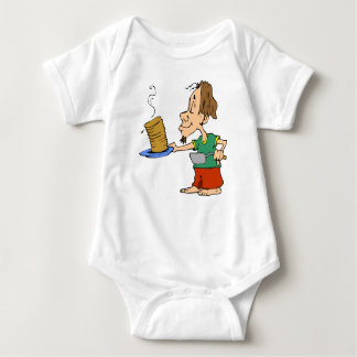 Gutenmorgen-Pfannkuchen-FrühstückHippie Baby Strampler