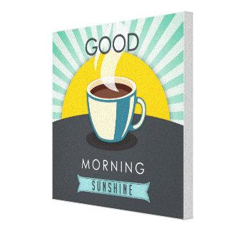 Gutenmorgen-Sonnenschein Leinwanddruck