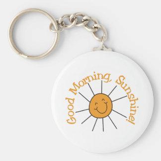Gutenmorgen-Sonnenschein Schlüsselanhänger