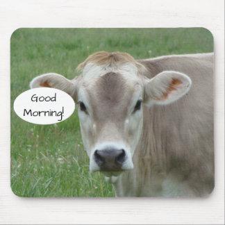 Gutenmorgen von Ihrer lokalen Jersey-Kuh Mousepad