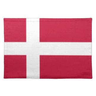 Guter Farbedänemark-Flagge Druck Tischset