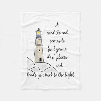 Guter Freund-inspirierend Zitat Fleecedecke