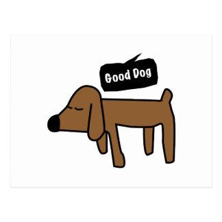 Guter Hund Postkarte