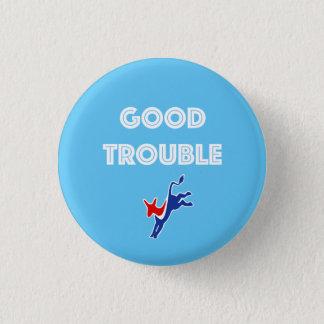 Guter Problem-Esel rund Runder Button 3,2 Cm