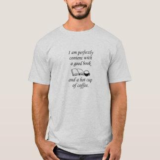 Gutes Buch und Kaffee T-Shirt