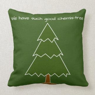 Gutes Chemis-Baum Wortspiel Kissen