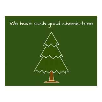 Gutes Chemis-Baum Wortspiel Postkarte