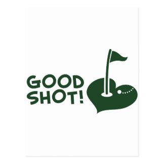 Gutes Schuss Golf Postkarten