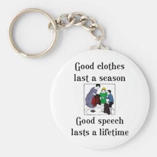 Gutes Sprache-SchulSprichwort Schlüsselanhänger