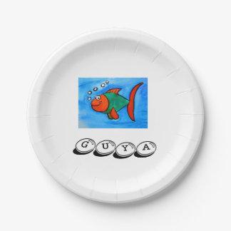 Guya (Fisch) Platte Pappteller