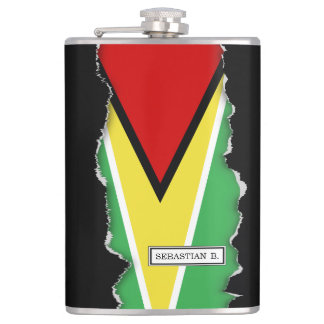 Guyana-Flagge Flachmann