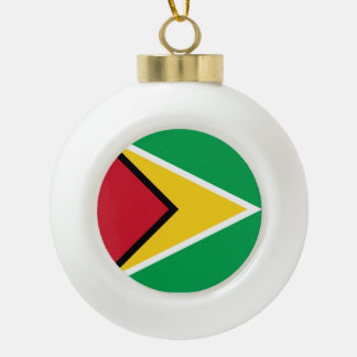 Guyana-Flagge Keramik Kugel-Ornament