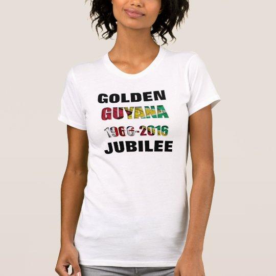 Guyana-Flaggen-Andenken-T - Shirt/goldenes T-Shirt