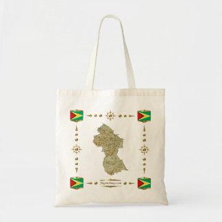 Guyana-Karte + Flaggen-Tasche Tragetasche