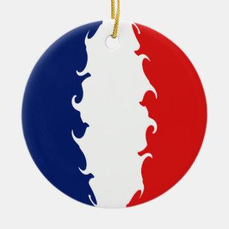 Guyane Gnarly Flagge Rundes Keramik Ornament