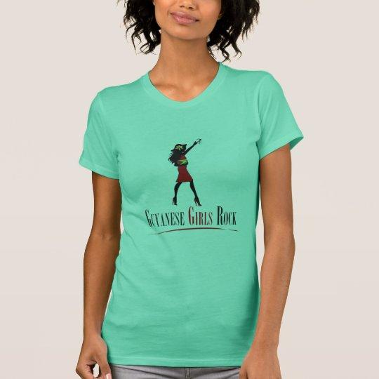 Guyanischer Mädchen-Felsen-T - Shirt
