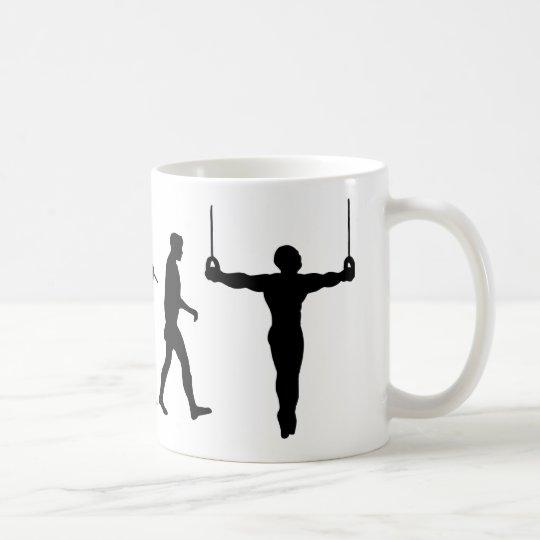 Gymnast-gymnastische Ringe Kaffeetasse