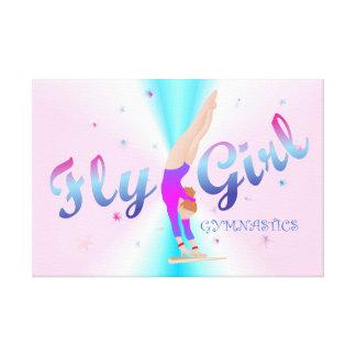 Gymnastik - Fliegen-Mädchen-Leinwand-Druck Leinwanddruck