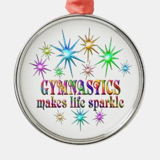 Gymnastik-Glitzern Rundes Silberfarbenes Ornament