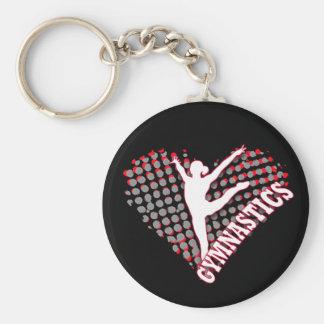 Gymnastik-Herz Keychain Schlüsselanhänger