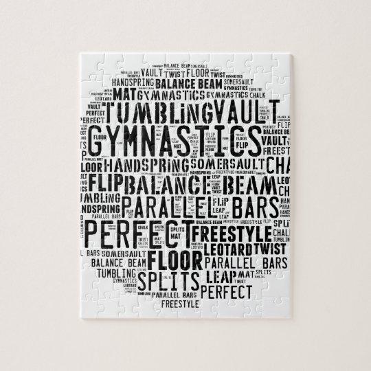 Gymnastik-Wort-Wolke