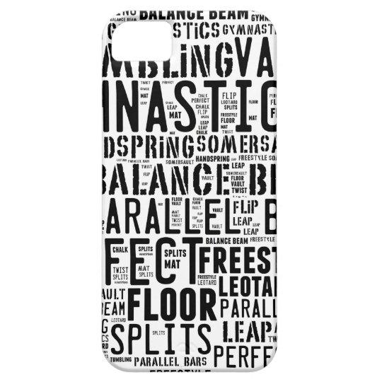 Gymnastik-Wort-Wolke iPhone 5 Etuis