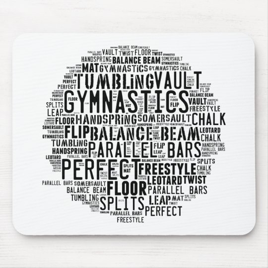 Gymnastik-Wort-Wolke Mousepad