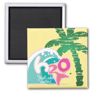 H2O Logo Quadratischer Magnet
