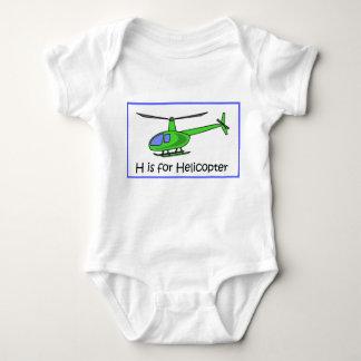 H ist für Hubschrauber Baby Strampler