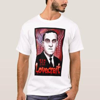 H.P. Lovecraft Porträt (rot) T-Shirt