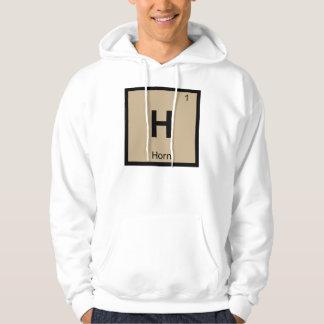H - Symbole de Tableau périodique de chimie de Sweatshirts Avec Capuche